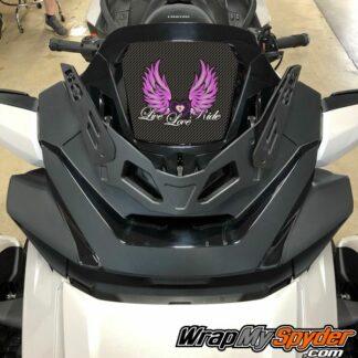 Live Love Ride logo for 2020+ Spyder RT Behind Windshield