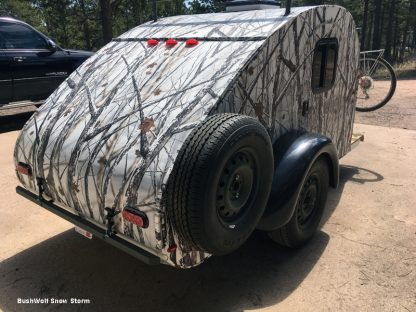 Camo wrap BushWolf Snow Storm trailer