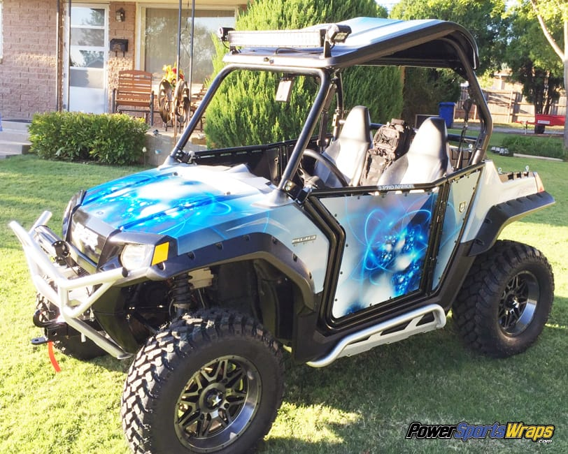 polaris rzr vinyl wrap diy project