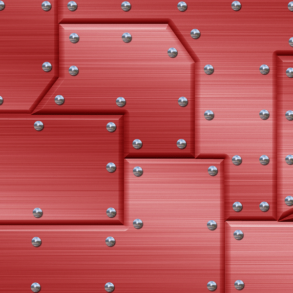 MTL-168-RMR Riveted Metal Red