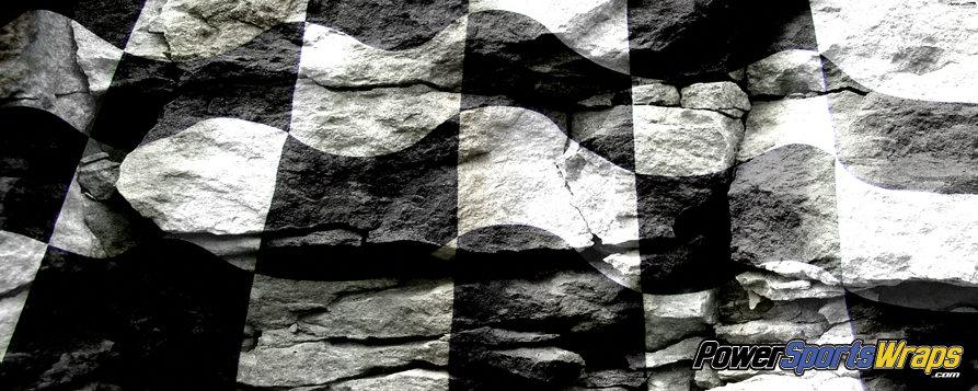 Racing Flag Rock Vinyl Wrap