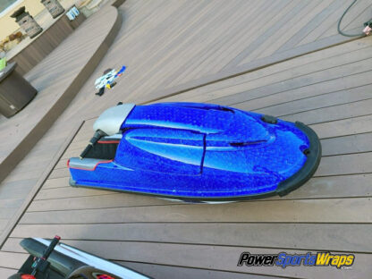 Monster Scales Blue jet ski wrapping film