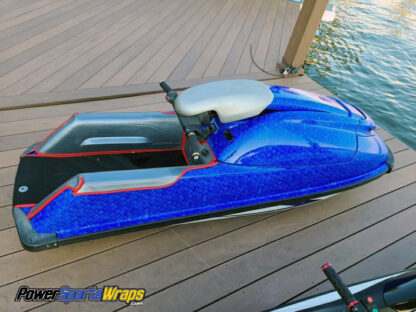 Jet ski wraps Monster Scales Blue. DIY JetSki wraps wrap kit.