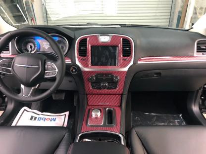 Red-Black-carbon-fiber-full dash