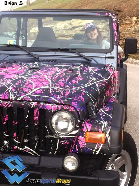 muddy girl by Moonshine jeep Wrangler wrap
