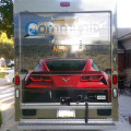 Rear of truck has the Vette image on it