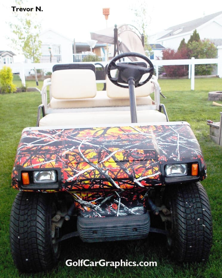 WildFire Camo golf car wrap