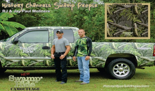 Swamp Hide Camo Wrapping Film