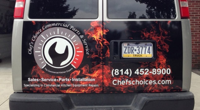 Chefs Choice van graphics vinyl wrap
