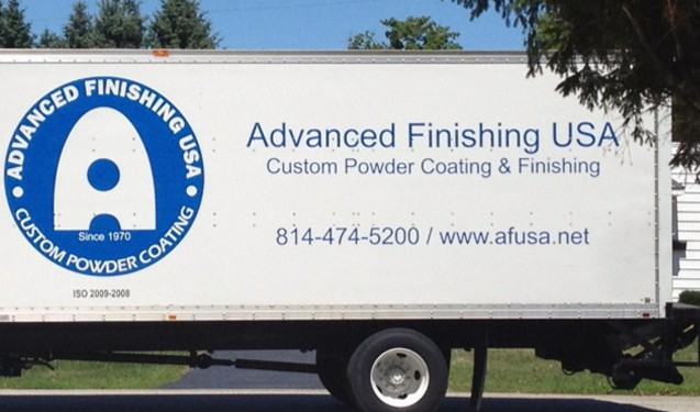 Advanced Finishing USA Straight Truck Graphics Wrap