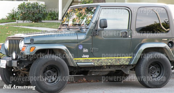 Camo Jeep Wrap in Digital film, Urban Jungle Mission Camo film …