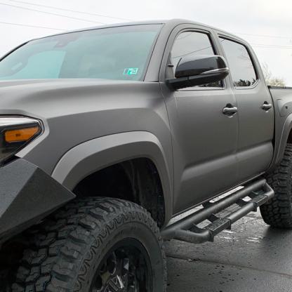 truck wrap in cast matte-charcoal-metallic