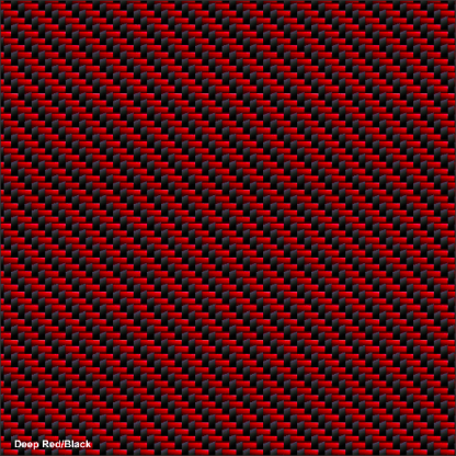 Deep Red-Black Carbon Fiber