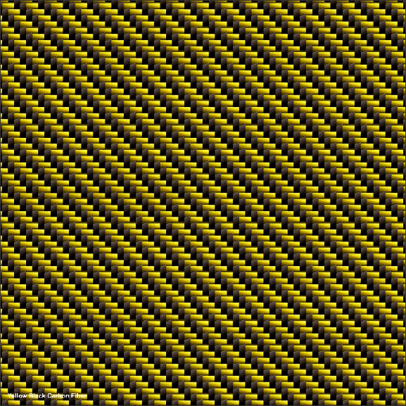 Yellow Black Carbon Fiber cast wrapping film pattern