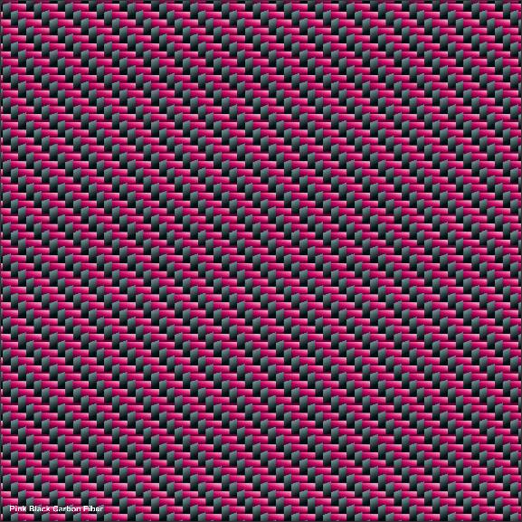 Pink Black carbon fiber vinyl warp pattern