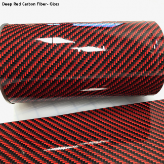 Deep-Red-Carbon-Fiber-gloss vinyl wrap
