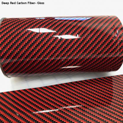 Deep-Red-Carbon-Fiber-gloss vinyl wrap