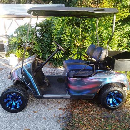 Hymanaius full body golf cart wrap