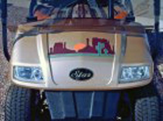 Fun 23 Desert sun golf car decal