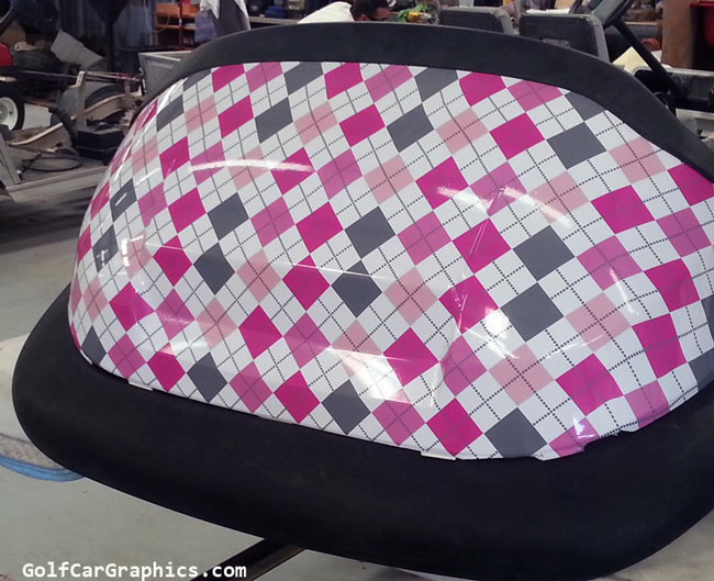 argyle gray pink wrap pattern
