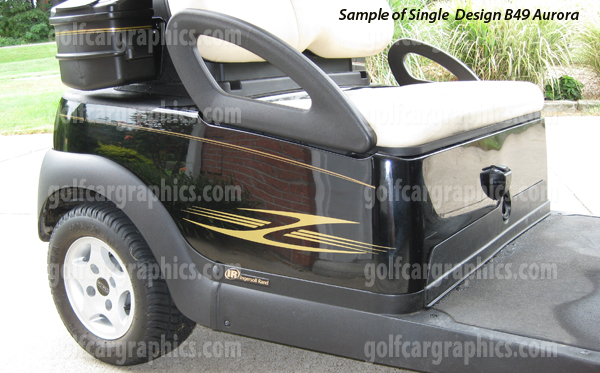 Aurora graphics kit for golf carts-Aurora Single Color Design