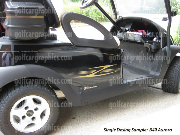 Aurora golf cart decal kit