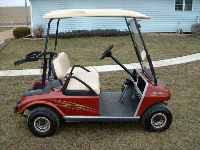 Aurora golf car graphics kit