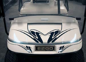 Double 8pc golf car decal design