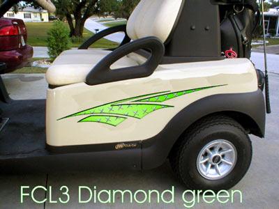 Diamond Green Dagger decal