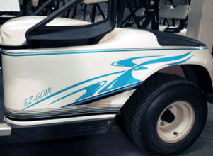 Cirrus 2 Color Decal Golf Car Graphic