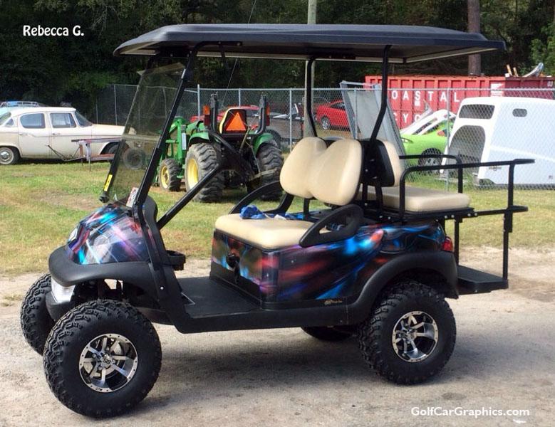 Club Car Precedent golfcar-wrap- in hymanaius pattern