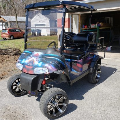 Hymanaius golf car body wrap kit installed by first time user.