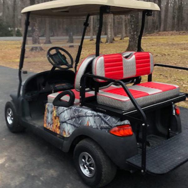 do it yourself golf car wrap Flaming Barbwire wrap kit