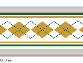 G17 3D Argyle Gold/Dk Green Grill Decal Golf Car Graphic
