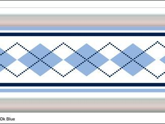 G11 3D Argyle Blue Grill Decal Golf Car Graphic