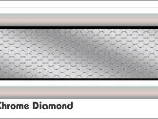 G3 3D 3D Chrome Diamond Golf Car Grill Decal