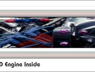 G4 3D Engine Inside Golf Car Grill Decal