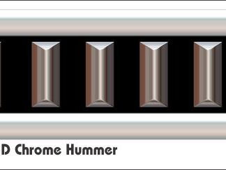 G2 3D Chrome Hummer Golf Car Grill Decal