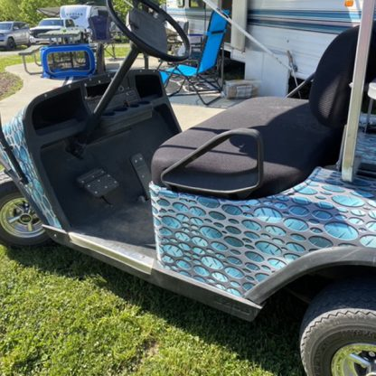 golf cart wrap kit sold as DIY for all models and brand golf cars