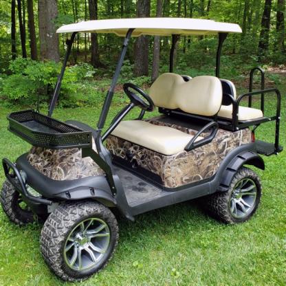 BushWolf-Grassland full golf car wrap