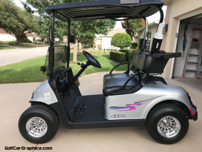 golf car decal kit Craving Purple Combo available in 2 piece or 8 piece kit