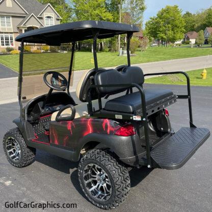 Lightning-Red-full body golf-car-wrap kit