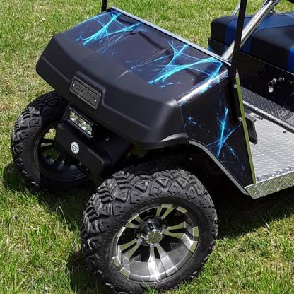 Liquid-web full body golf car wrap