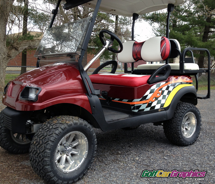 JP checker-golf car decal kit