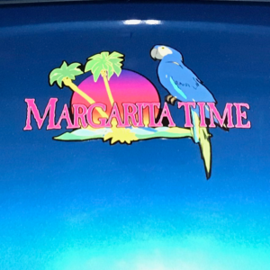 Margarita Time golf car decal
