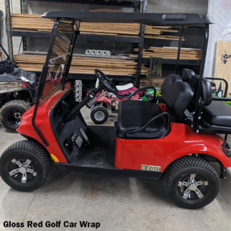 gloss-Red golf cart wrap