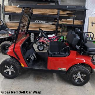 gloss-Red golf cart wrap
