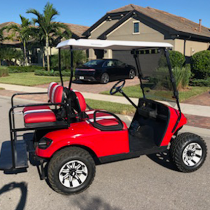 Red Gloss golf cart wrap kit