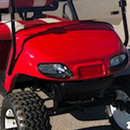 Red Gloss golf car wrap kit