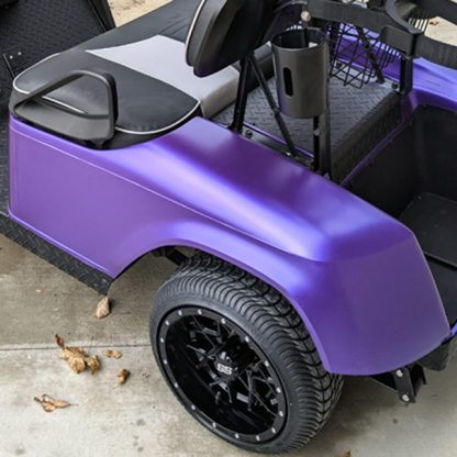 Matte Purple Metallic full body golf cart wrap